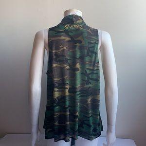 Flowy Camo Dereon Vest 1X